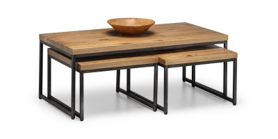 Brooklyn Solid Oak Nesting Coffee Tables