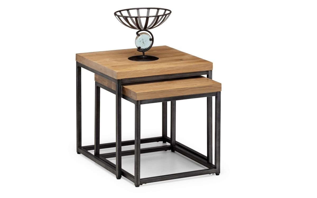 Brooklyn Solid Oak Nesting Lamp Tables