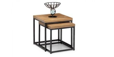 Brooklyn Solid Oak Nesting Lamp Tables