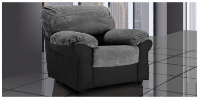 Carrick Armchair Black-Grey