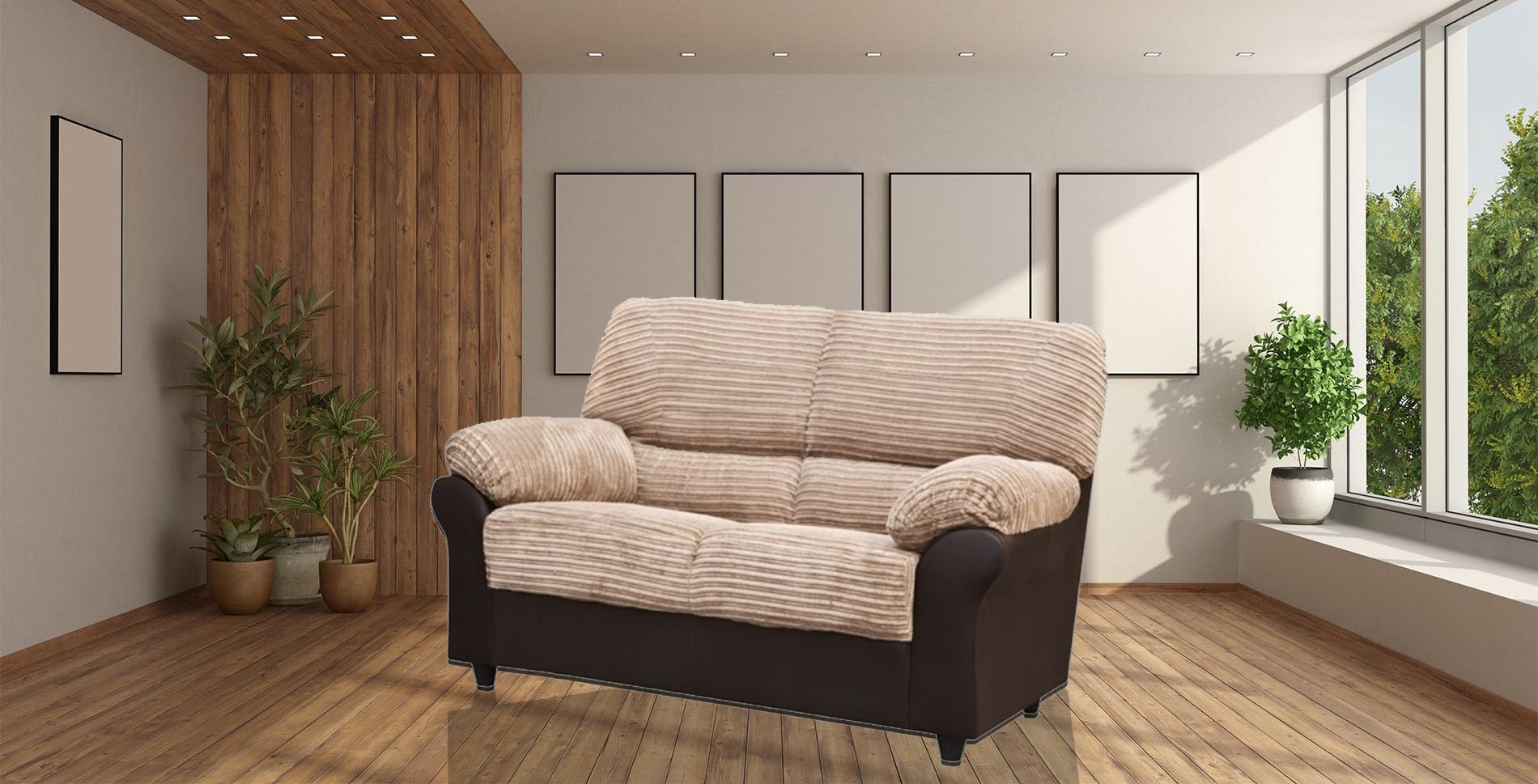 Carrick 2 Seater Brown-Beige