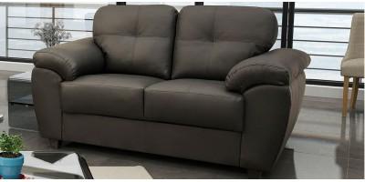 Capri 2 Seater Grey Leather Sofa