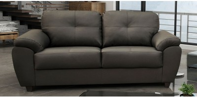 Capri 3 Seater Grey Leather Sofa