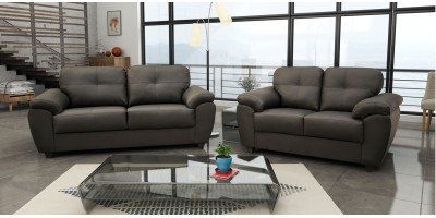 Capri 3+2 Seater Grey Leather Sofa