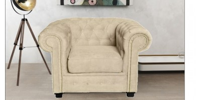 Chesterfield Club Chair Cream