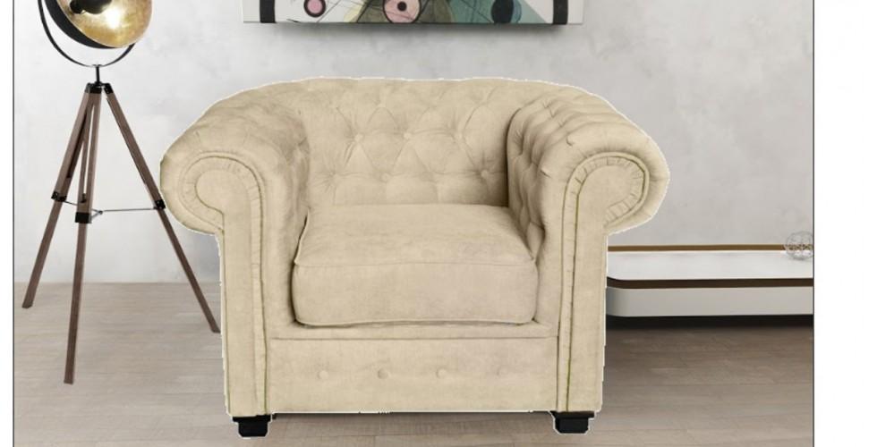 Chesterfield Club Chair Cream