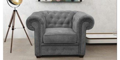 Chesterfield Club Chair Graphite