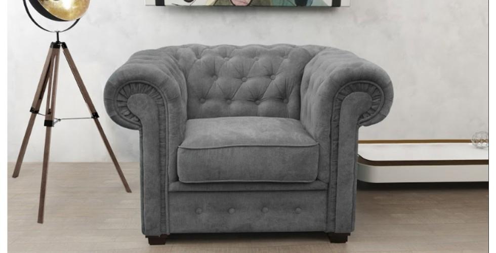 Chesterfield Club Chair Graphite