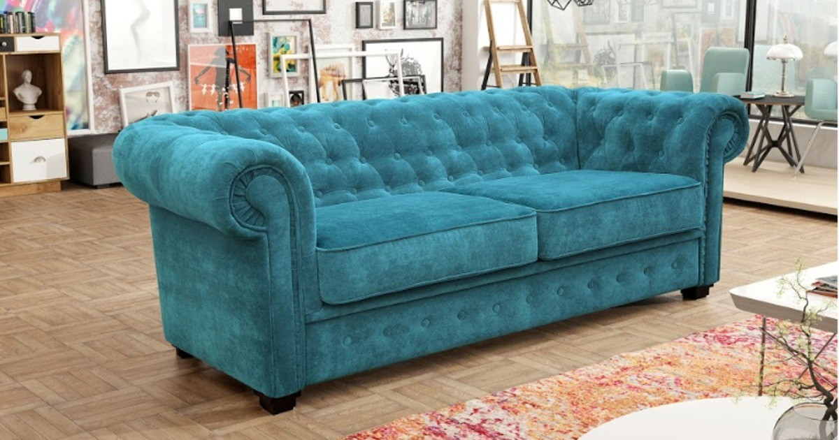 Chesterfield 2 Seater Ocean