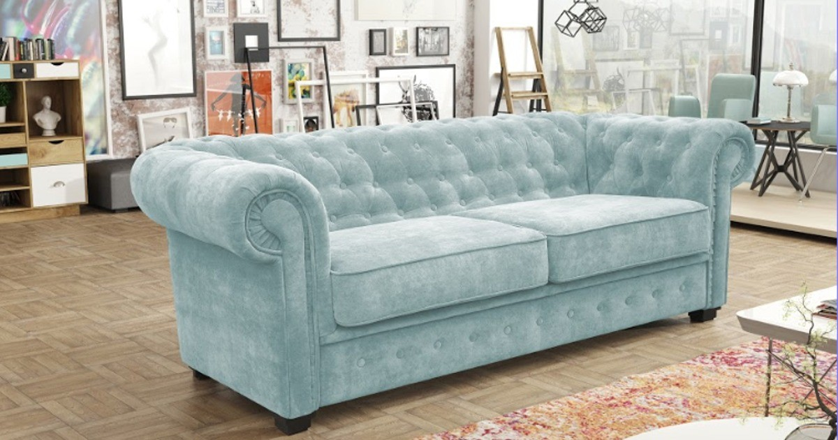 Chesterfield 2 Seater Blue