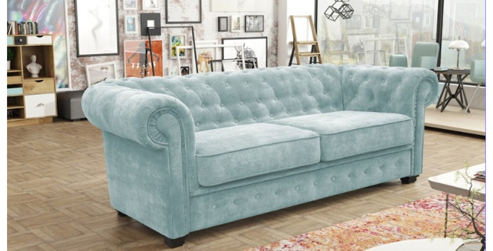 Chesterfield 3 Seater Blue