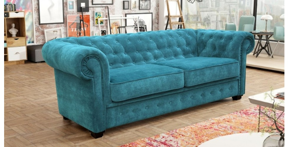 Chesterfield 3 Seater Ocean