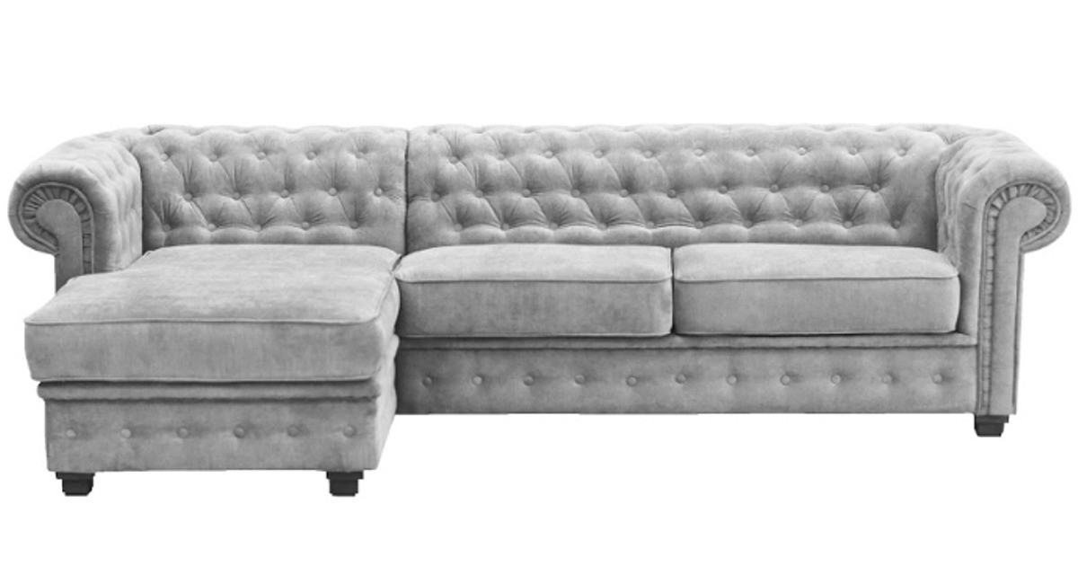 Chesterfield 2 Seater Silver