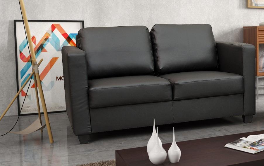 Dante 2 Seater Sofa Black