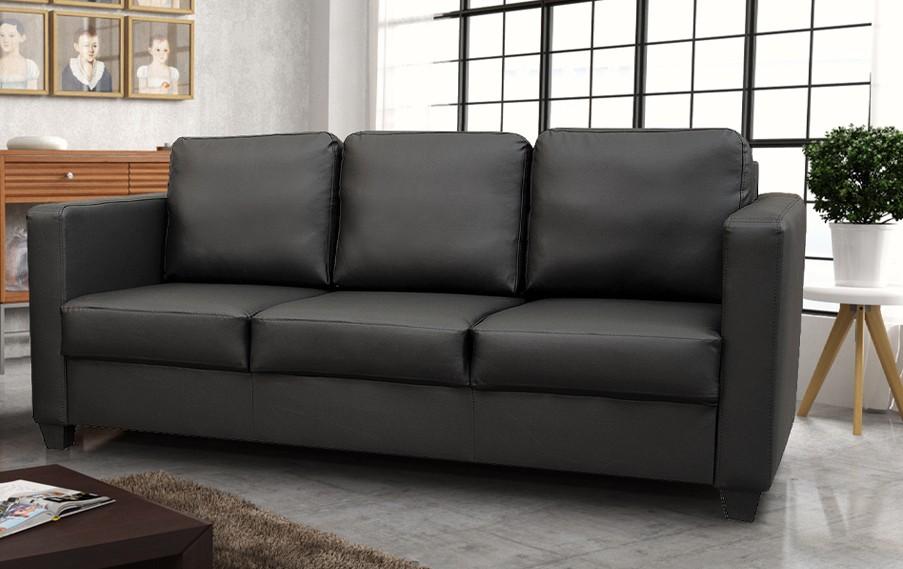 Dante 3 Seater Sofa Black