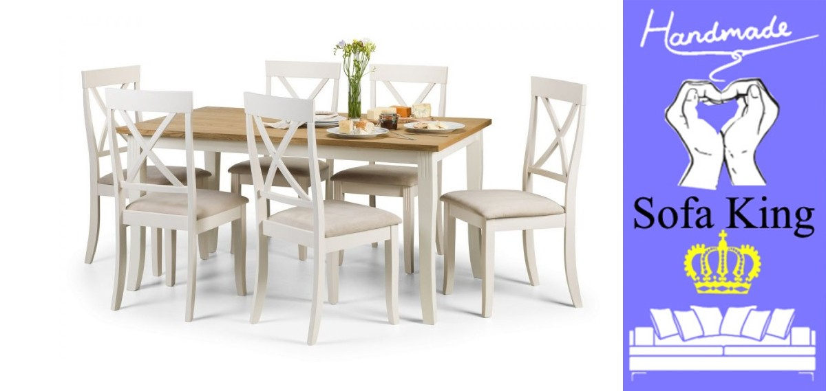 Davenport Rectangular Dining Table + 6 Davenport Chairs Set