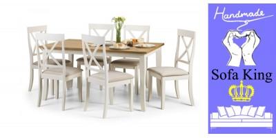 Davenport Rectangular Dining Table + 6 Davenport Chairs Set