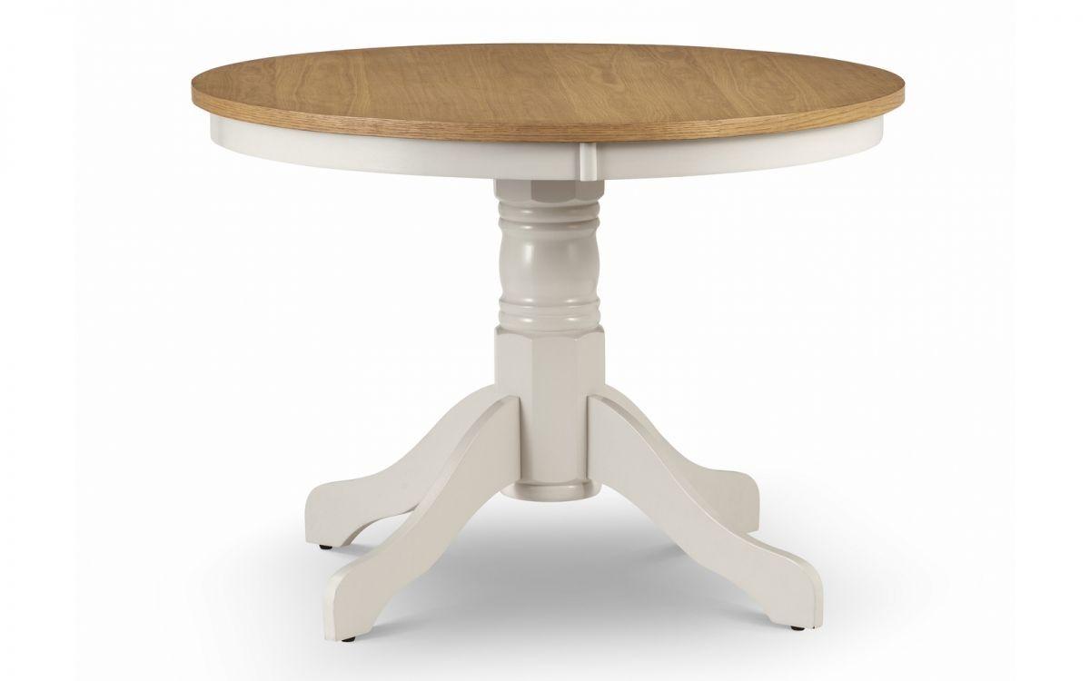 Davenport Round Pedestal Table + 4 Davenport Chairs Set