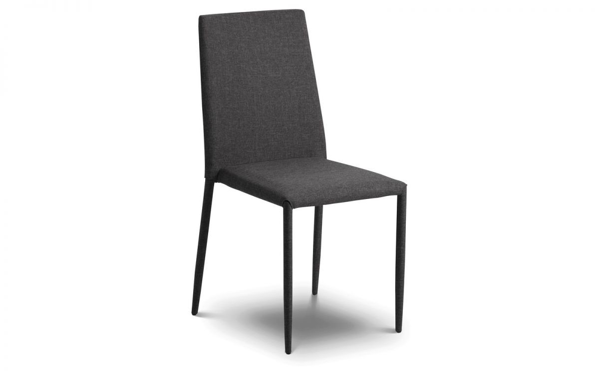 Jazz Fabric Dining Chair Slate Grey
