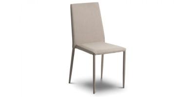 Jazz Fabric Dining Chair Sand Linen