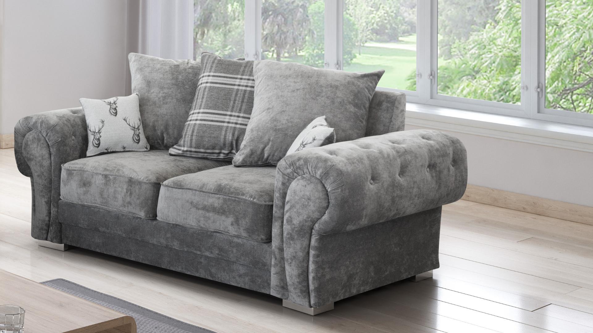 Fernando 2 Seater Sofa Granite