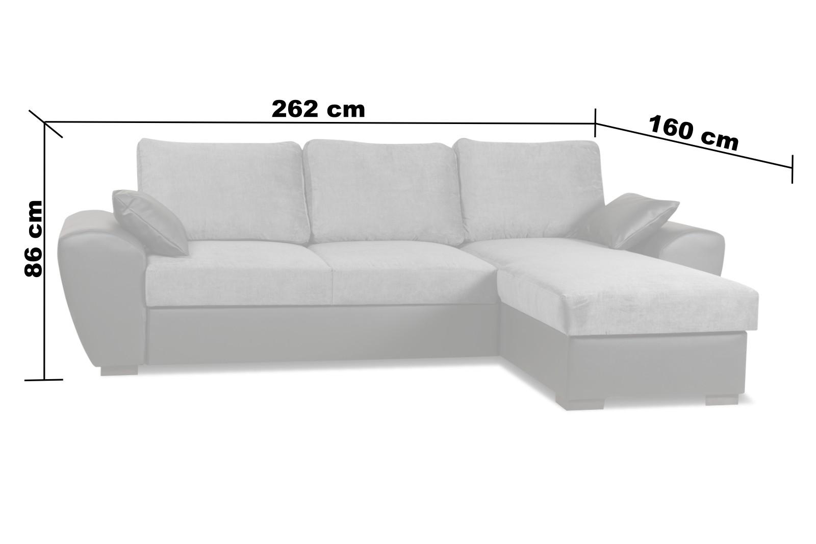 Monza Right Corner Sofa Bed Cream