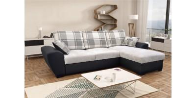 Monza Right Corner Sofa Bed Silver