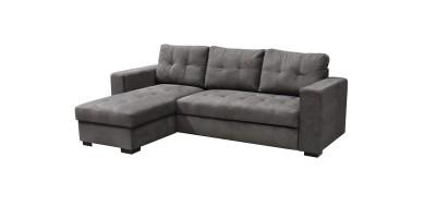 Monza II Left Corner Sofa Bed Graphite