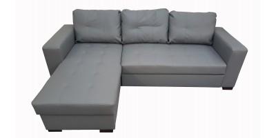 Monza II Left Corner Sofa Bed Grey PU