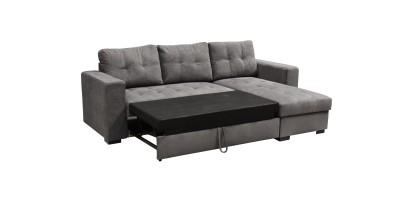 Monza II Right Corner Sofa Bed Graphite