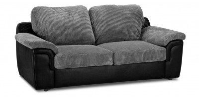 Glow 2 Seater Black Silver