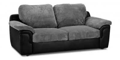 Glow 3 Seater Black Silver