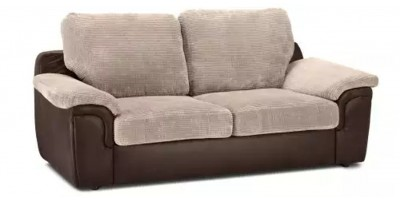 Glow 3 Seater Brown Silver