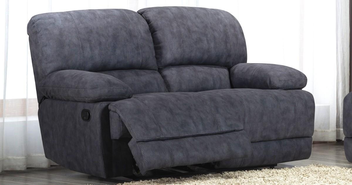 Grosvenor Charcoal Grey Recliner 2 Seater Sofa