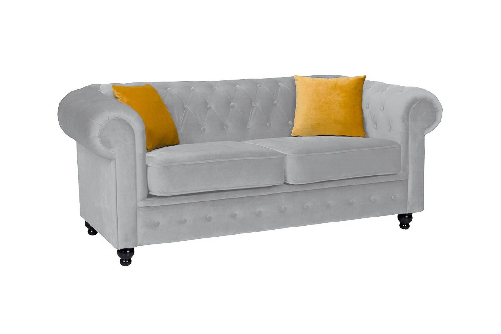 Newport 2 Seater Sofa Silver Plush