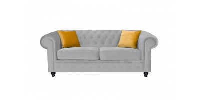 Newport 2 Seater Sofa Silver Plush