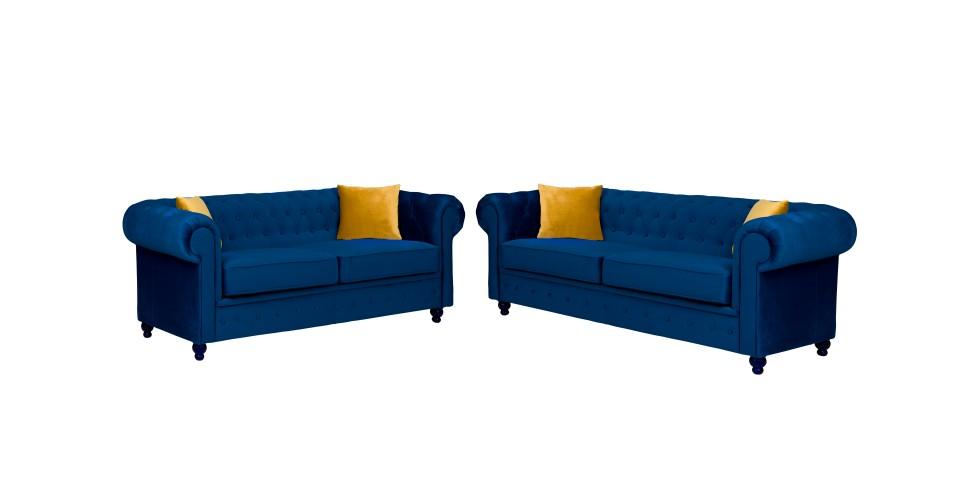 Newport 3+2 Seater Sofa Marine Plush