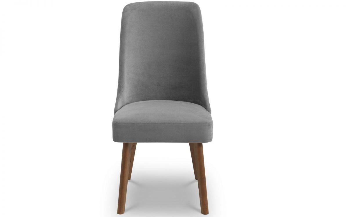 Huxley Chenille Velvet  Dining Chair - Dusk Grey