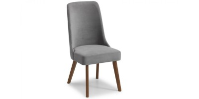 Huxley Chenille Velvet  Dining Chair - Dusk Grey