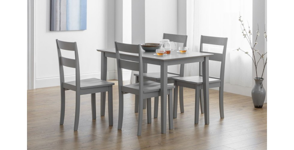 Kobe Dining Table + 4 Chairs Set