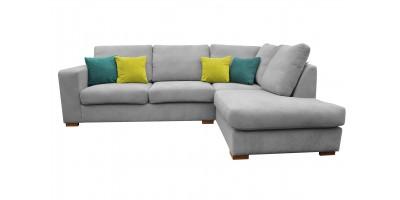 Layla Corner Sofa RHC Silver
