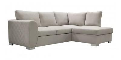 Lola Corner Sofa Bed Silver RHC