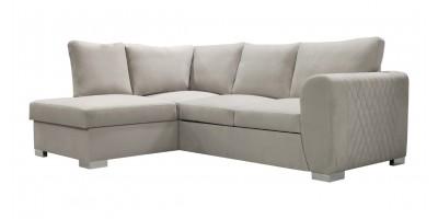 Lola Corner Sofa Bed Silver LHC