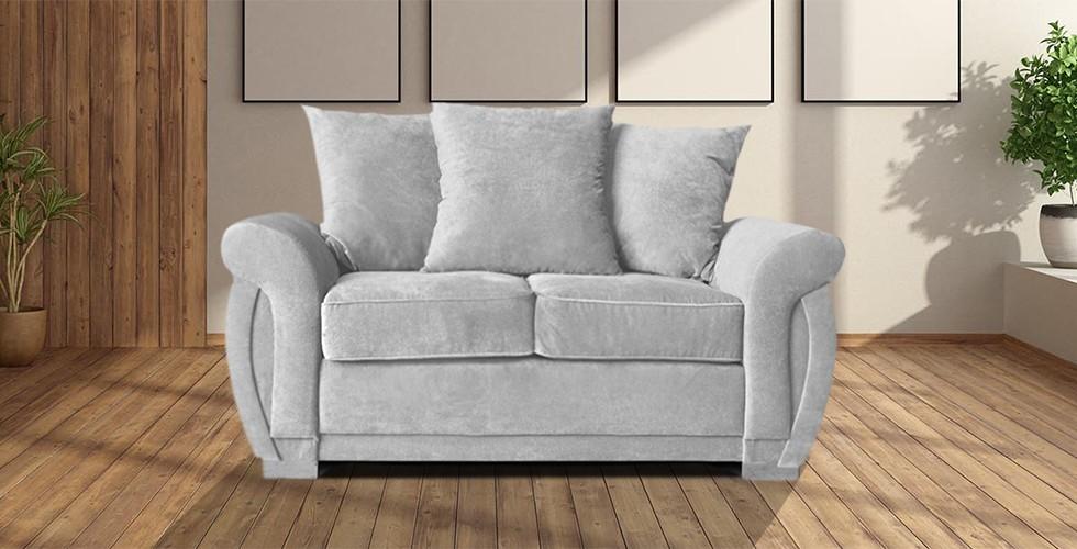 Neveda 2 Seater Sofa Silver