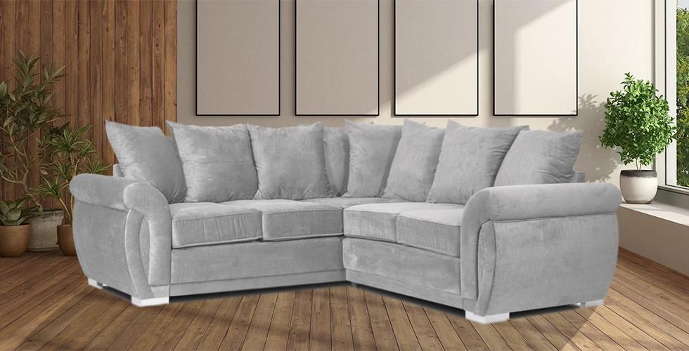 Neveda 2CR2 Corner Sofa Silver