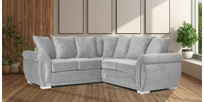 Neveda 2CR2 Corner Sofa Silver