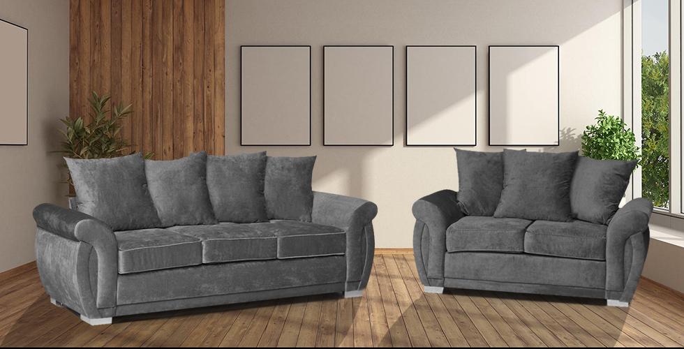 Neveda 3+2 Seater Sofa Graphite