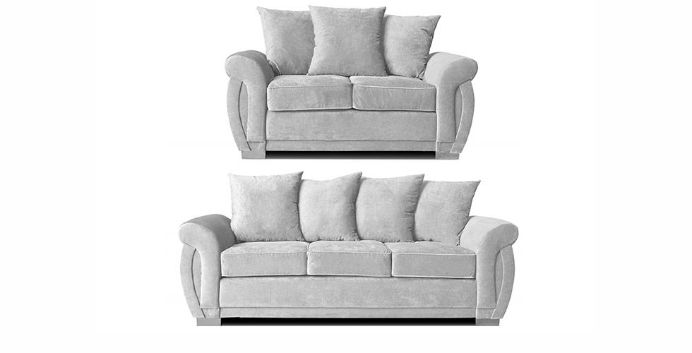 Neveda 3+2 Seater Sofa Silver