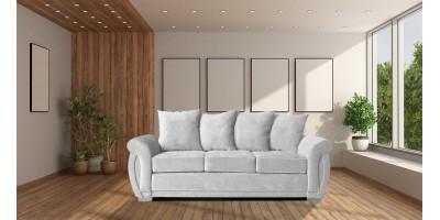 Neveda 3 Seater Sofa Silver