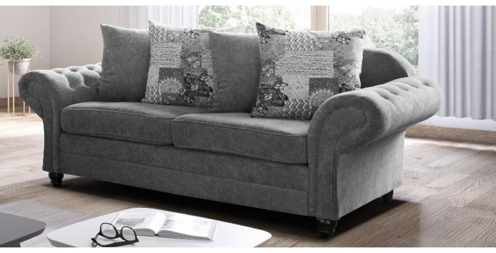Nicole 3+2 Seater Graphite Sofa
